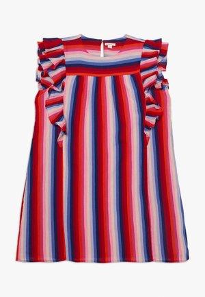 PAT DRESS - Denní šaty - red/indigo