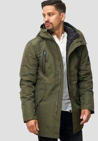 INDICODE JEANS - Winter coat - dark green - 0