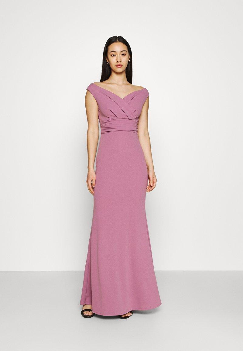 WAL G. - ANDREW OFF SHOULDER DRESS - Suknia balowa - mauve pink
