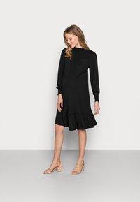 Dorothy Perkins Maternity - SHIRRED YOKE DRESS - Jersey dress - black - 0