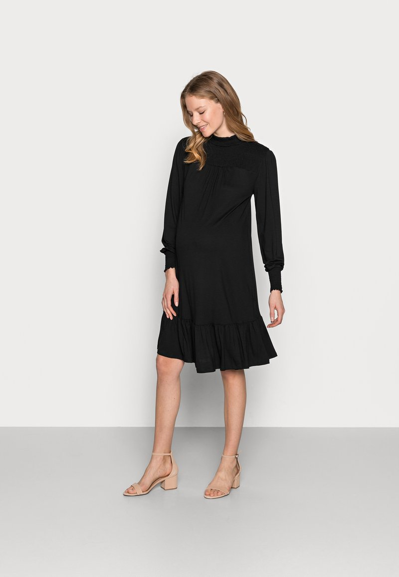 Dorothy Perkins Maternity - SHIRRED YOKE DRESS - Jersey dress - black