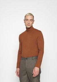 Topman - ROLL NECK 2 PACK - Longsleeve - grey/brown - 1