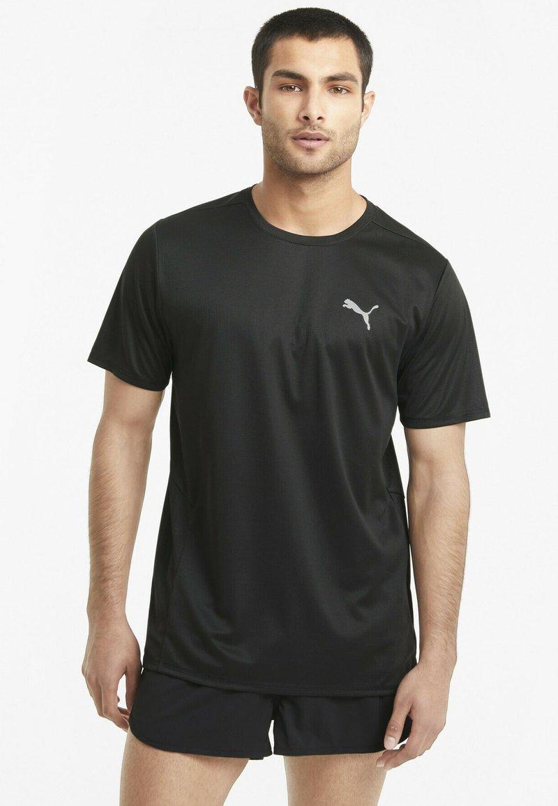 Puma - RUN FAVORITE TEE  - Print T-shirt - puma black
