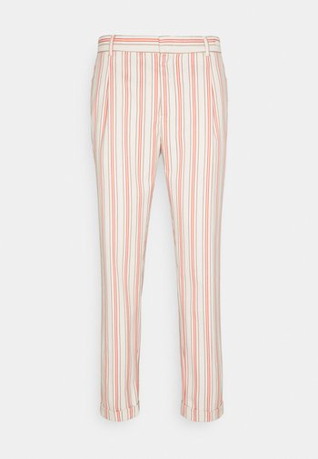 BLAKE CLASSIC PLEATED STRUCTURED - Trousers - beige/salmon