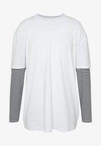Urban Classics - DOUBLE LAYER STRIPED TEE - Maglietta a manica lunga - white - 4