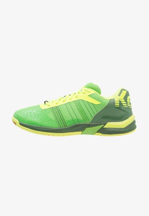 ATTACK CONTENDER CAUTION  - Handball shoes - hope green/fluo yellow