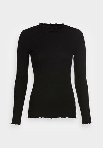 COSY TEE - Long sleeved top - deep black