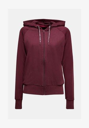 Zip-up hoodie - bordeaux red