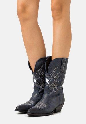 Cowboy/Biker boots - ink