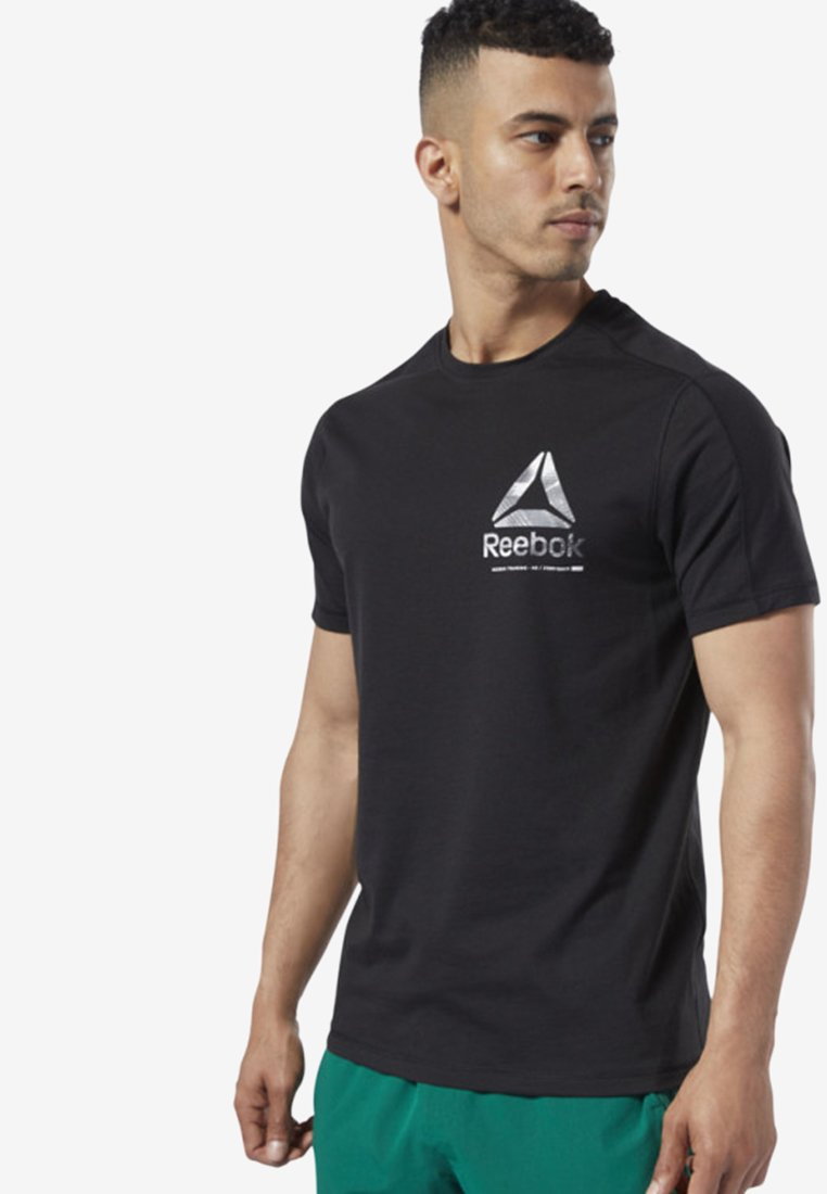 Reebok - ONE SERIES TRAINING SPEEDWICK TEE - Print T-shirt - black