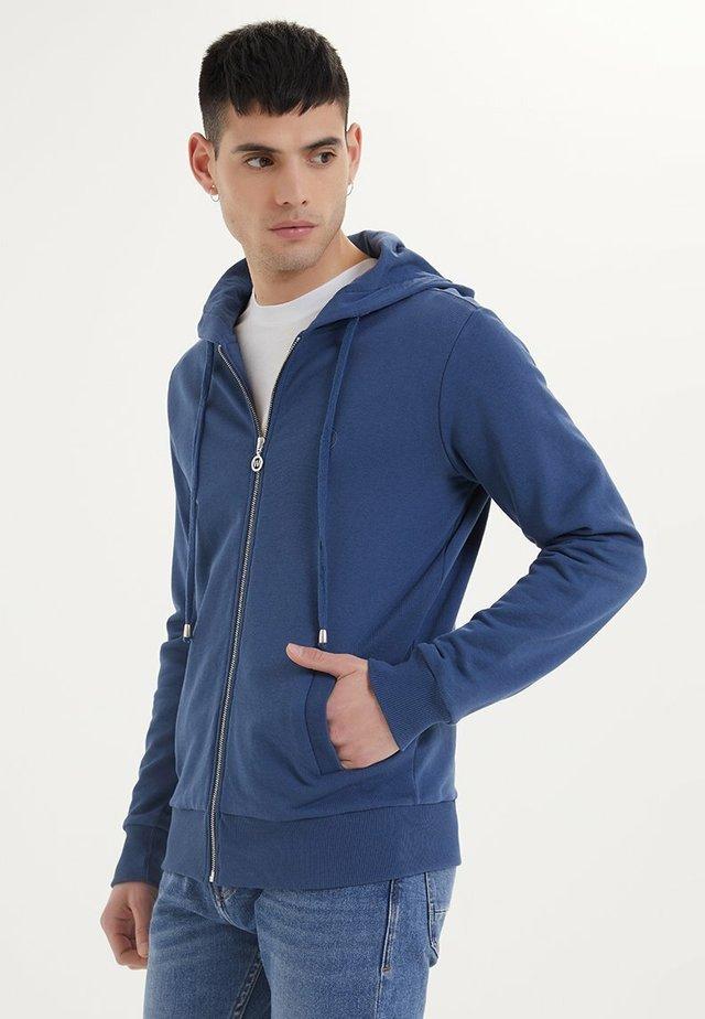 ESSENTIALS  - veste en sweat zippée - dark denim
