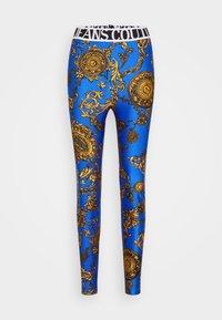 PANTS - Legíny - blue/gold