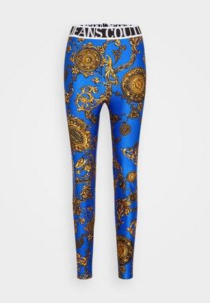 PANTS - Leggings - blue/gold