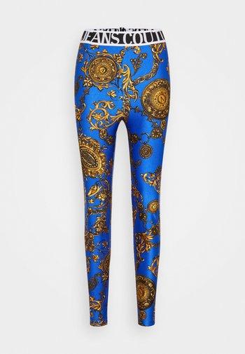 PANTS - Leggings - Trousers - blue/gold