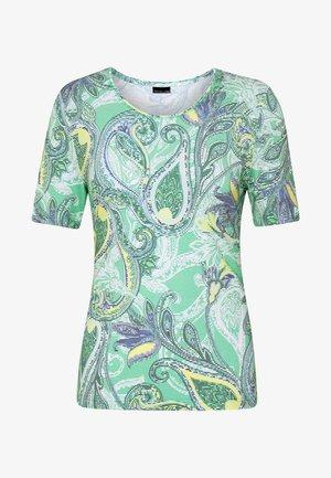 Print T-shirt - mint/blue/lemon