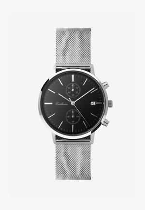 Chronograph watch - silver-black