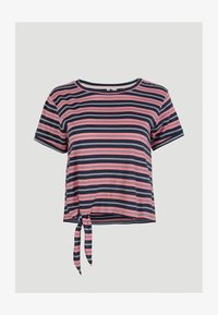 O'Neill - KNOTTED  - Print T-shirt - pink with blue - 3