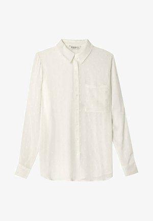 HALBTRANSPARENTES - Camicia - white
