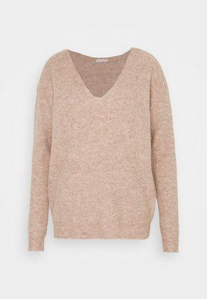PCBABETT NECK  - Pullover - natural