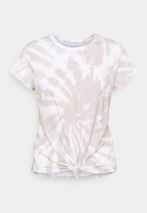 KNOTTED MIDI - Print T-shirt - light brown