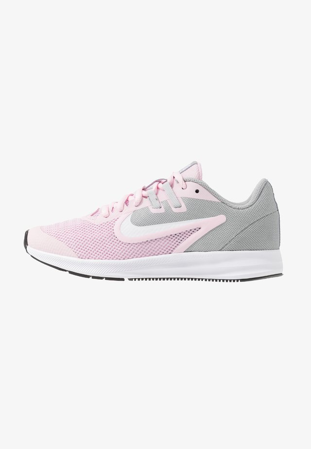 DOWNSHIFTER 9 - Neutral running shoes - pink foam/white/metallic silver/pure platinum