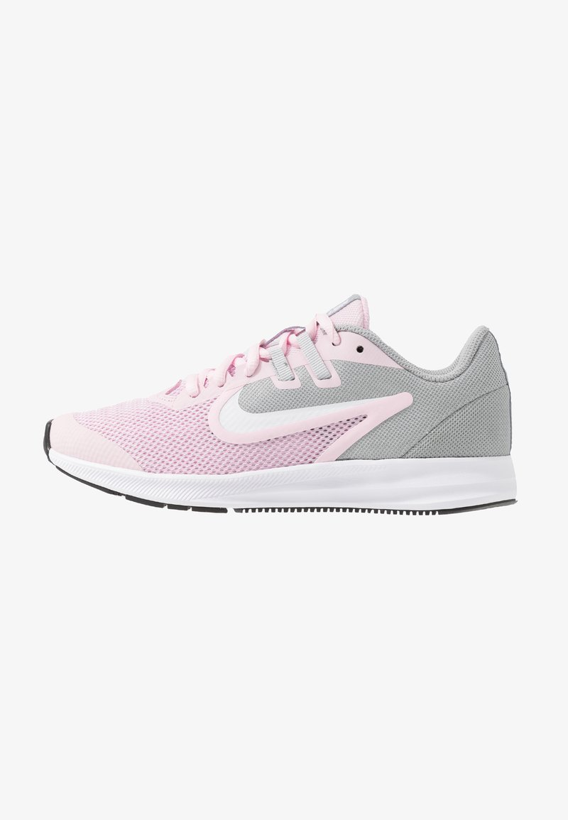 Nike Performance - DOWNSHIFTER 9 - Neutral running shoes - pink foam/white/metallic silver/pure platinum