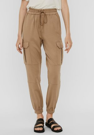 LOOSE FIT  - Cargo trousers - silver mink
