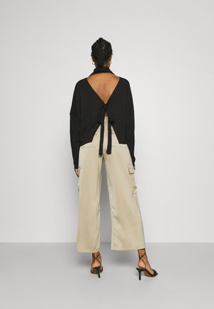 OPEN BACK KNOT - Jumper - black