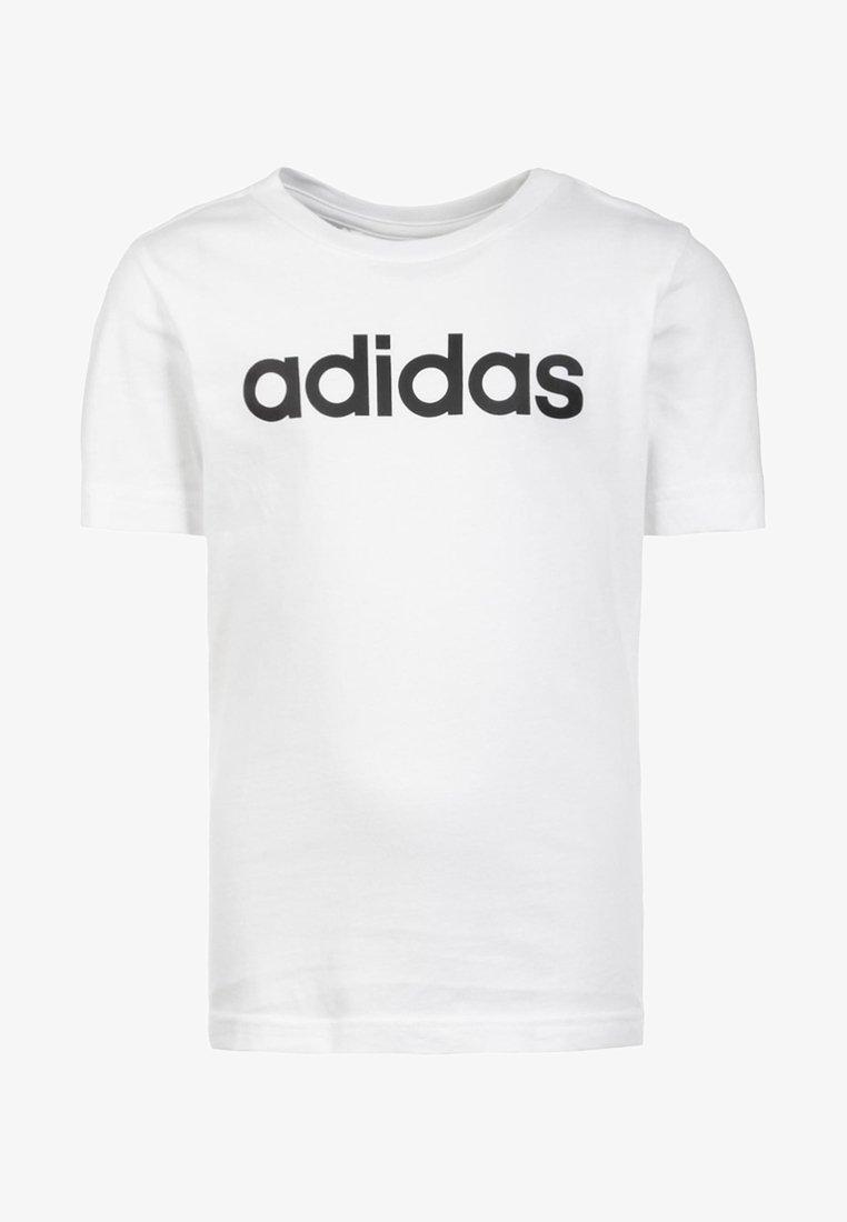 adidas Performance - LIN UNISEX - T-Shirt print - white / black