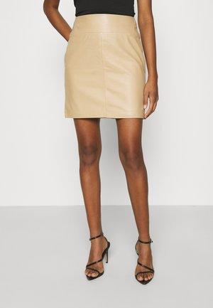 VMZILLA SKIRT   - Mini skirt - beige