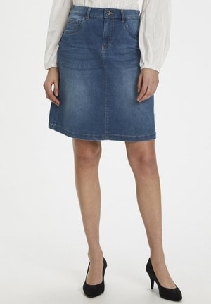 CREAM SAMMYCR DENIM SKIRT - Jeanskjol - rich blue denim