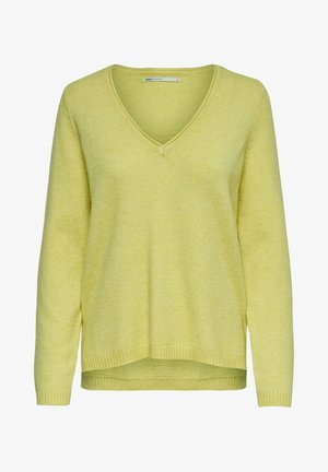 ONLLESLY NEW V-NECK - Sweter - elfin yellow
