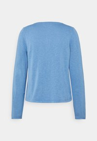 Marc O'Polo - CARDIGAN LONGSLEEVE ASHAPE WITH STRUCTURE DETAILS AND BUTTON - Cardigan - washed cornflower - 1