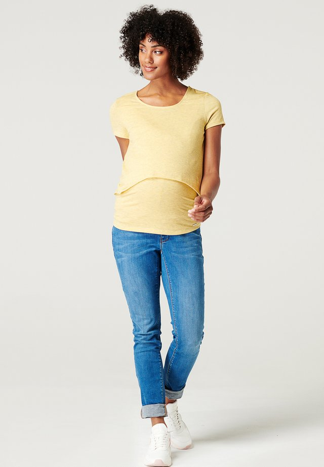 T-shirt basique - dusty yellow