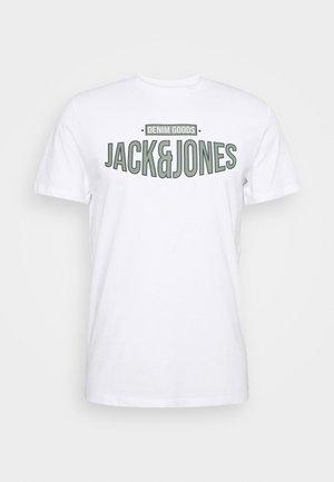 JORBOOSTER TEE CREW NECK - T-shirt print - white