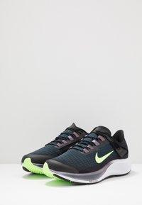 Nike Performance - AIR ZOOM PEGASUS 37 FLYEASE - Neutral running shoes - black/ghost green/valerian blue - 2