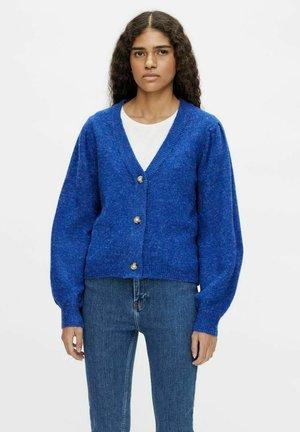 OBJEVE NONSIA SHORT CARDIGAN - Cardigan - mazarine blue