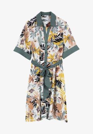 Shirt dress - tropical green