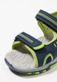 KangaROOS - LOGAN - Walking sandals - dark navy/lime - 2