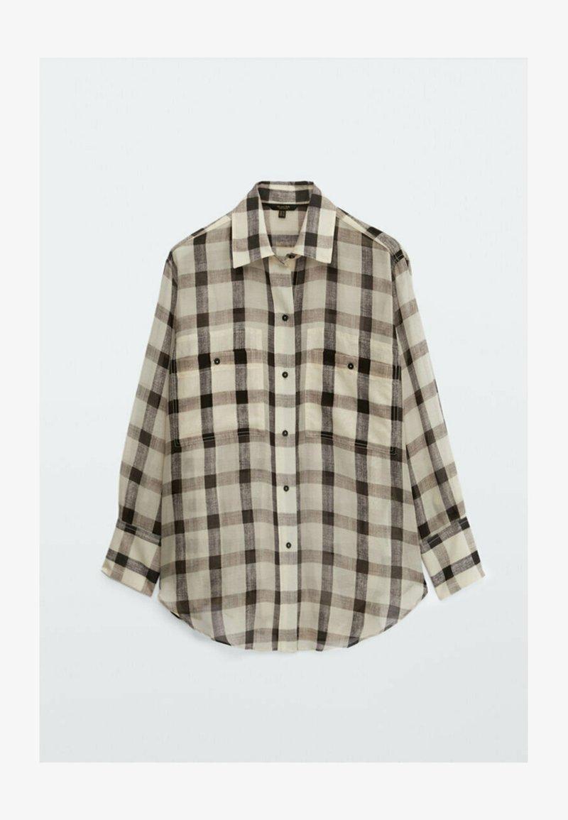Massimo Dutti - Button-down blouse - beige