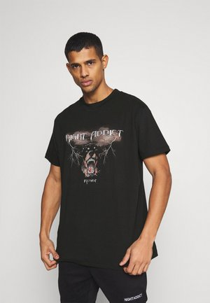 RESIST - T-shirt con stampa - black