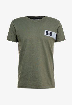 REFLECTIVE STRIPES  - T-shirt z nadrukiem - dark olive