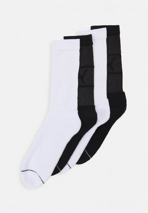 CHILL REVERSED CREW 4 PACK UNISEX - Sportovní ponožky - white/black