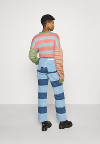 The Ragged Priest - STRIPE PANEL DAD  - Jeans straight leg - blue - 2
