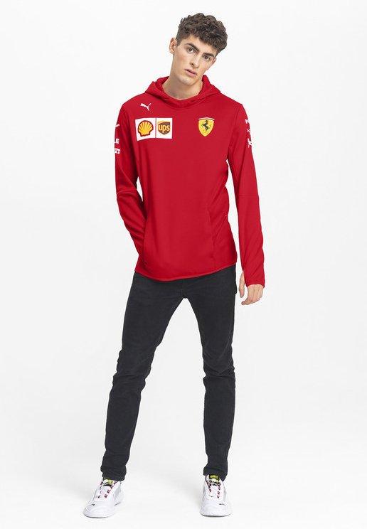 Puma Ferrari Hoodie Rosso Corsa Red Zalando De