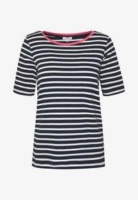 TOM TAILOR - STRIPE CONTRAST NECK - Print T-shirt - dark blue - 3