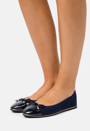 PINE TOE CAP RAND - Ballet pumps - navy