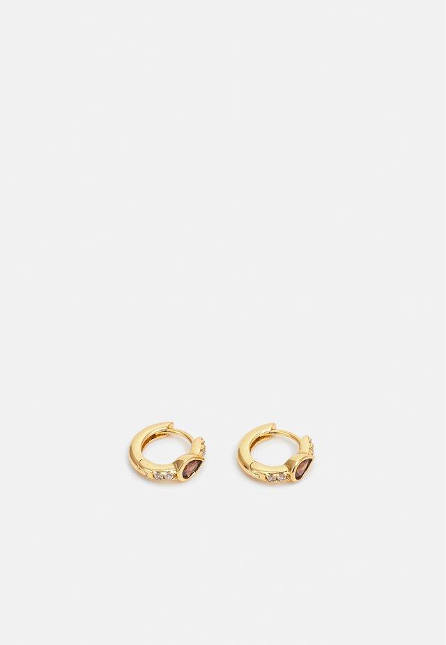 TEARDROP HUGGIE HOOPS - Boucles d'oreilles - gold-coloured