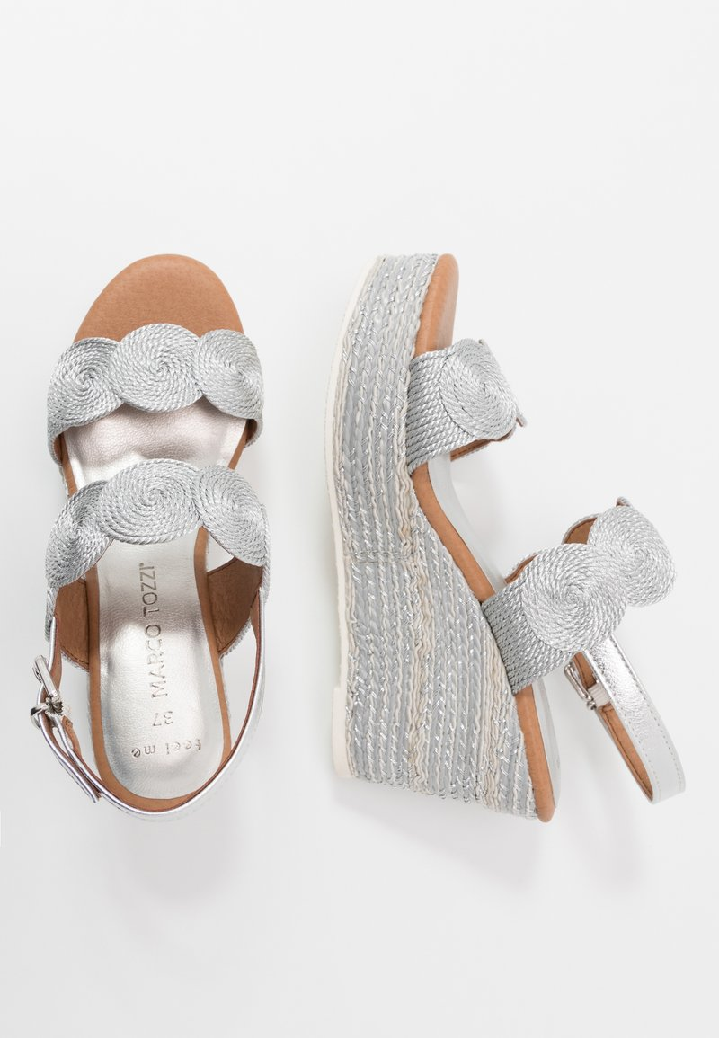 Marco Tozzi - High heeled sandals - silver