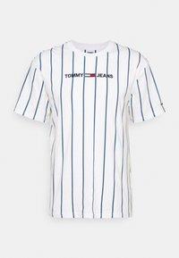 Tommy Jeans - VERTICAL STRIPE LOGO TEE UNISEX - T-shirt imprimé - white/audacious blue - 0